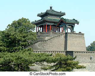 Antiquated Platform of Parade, which was used in ancient China to declare war