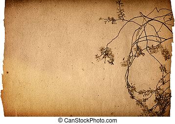 antiquato, artistico, fiore