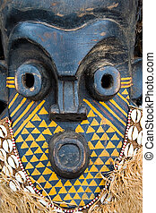 Handmade antique african mask, contain clipping paths, Ndebele tribe, Bulawayo, Zimbabwe