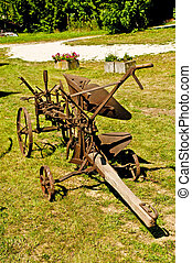 antique agriculture machine plough