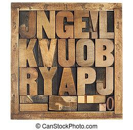 antique alphabet symbols