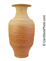Antique amphora isolated on a white background