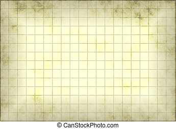 Antique and Old Grunge Graph Paper with Grids