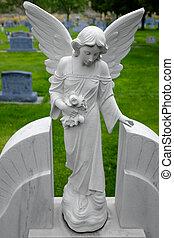 Antique Angel Statue