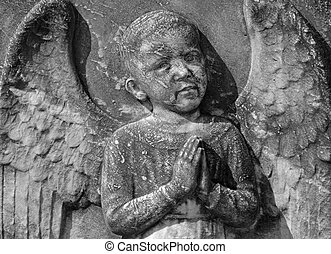 antique angelic bas-relief