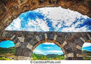 antique arches in Saccargia