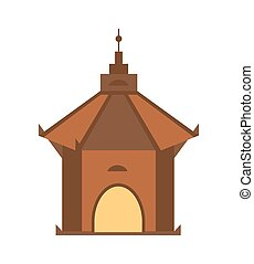 Antique architecture isolated vector icon