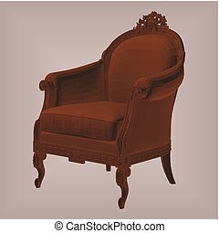 Antique Armchair Vector 18.eps