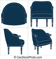 Antique Armchair Vector 23.eps