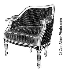 Antique Armchair Vector