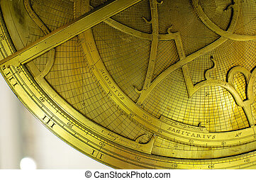 Astrolabe - Antique Astrolabe, an instrument to locate the...