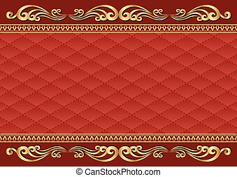 background - antique background with golden ornaments