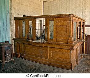 Antique Bank Teller Station