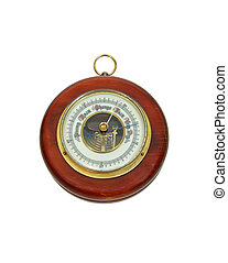 Antique barometer - Antique aneroid barometer with...