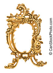 Antique baroque brass frame