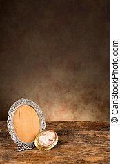 Antique baroque empty photo frame