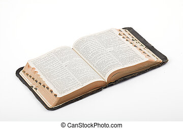 Bible - Antique Bible photographed in the studio on a white ...