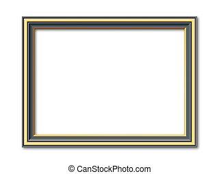 antique black and golden vector frame - black and golden...