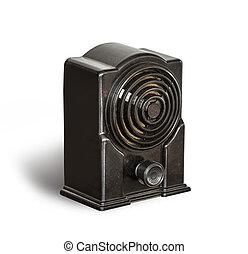 Antique black radio