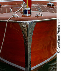 Antique boat shows exquisite craftsmanship and care concepts