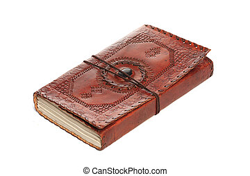 Antique Book on the white background.