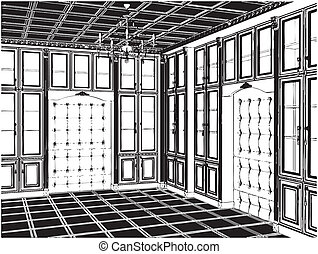 Antique Bookcase Room