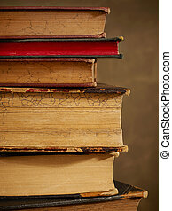 Antique books close-up