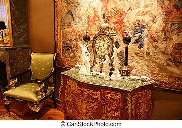 Antique interior in Empire style