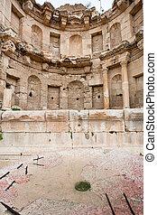 antique bowl near Artemis temple in ancient town Jerash