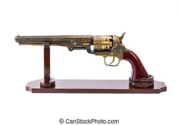 Antique brass gun