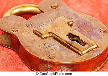 Brass Lock - Antique Brass Lock