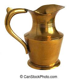 Antique brass pitcher