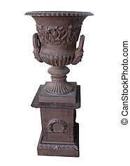 Antique Brass Pot on a Stand