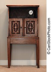 Antique cabinet - Antique wooden hand carved cabinet.