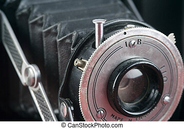 Antique Camera - Closeup of an old camera