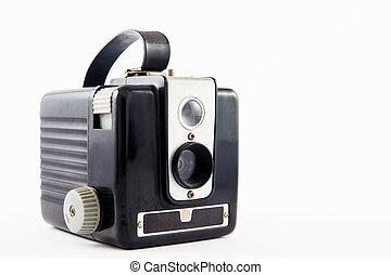 Antique camera isolated on white background
