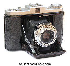Antique Camera over white background