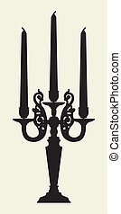 Antique Candelabrum Vector