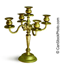 Antique candlestick isolated