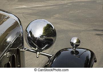 Antique Car Chrome headlght