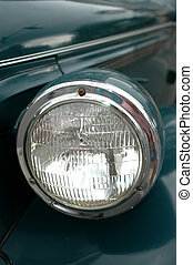 antique car head light