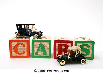 Antique Cars ABC Blocks