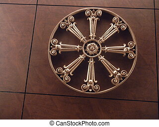 antique ceiling ornament - antique shiny brass ceiling...