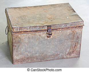 Antique chest - Grunge antique and old chest after years of...