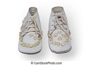 antique childrens shoes - Children shoes from around 1940,...