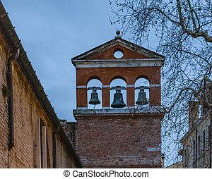 Antique Church Building Exterior View, Venice, Italy