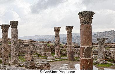 antique citadel in Amman, Jordan