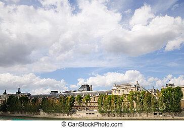 antique city view in paris Europe
