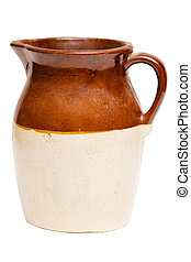 Antique clay Depression-era jug or pitcher