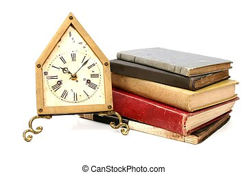 Antique Clock & Book